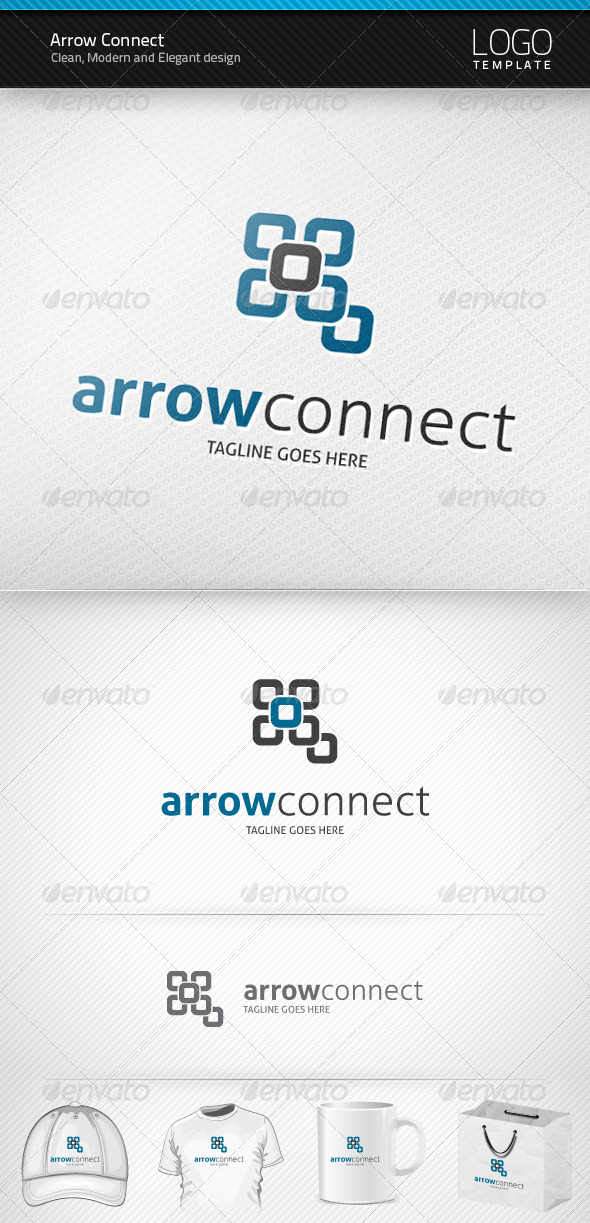 Arrow Connect Logo - Abstract Logo Templates