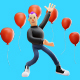 A Cool Man Cartoon 3D Illustration Set