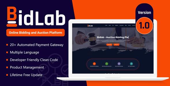 Download BidLab – Online Bidding & Auction Platform Free Nulled