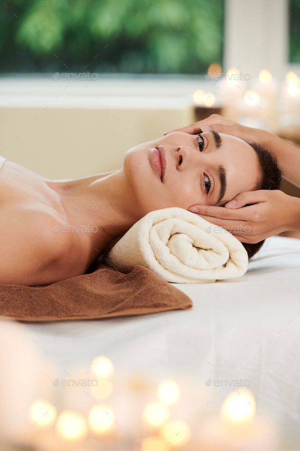 Woman getting spa procedure - Stock Photo - Images