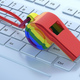 Gay pride rainbow flag whistle on white computer background. 3d illustration - PhotoDune Item for Sale