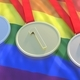 Medals gold, silver and bronze on LGBT flag. 3d illustration - PhotoDune Item for Sale