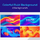 Colorful Fluid background template