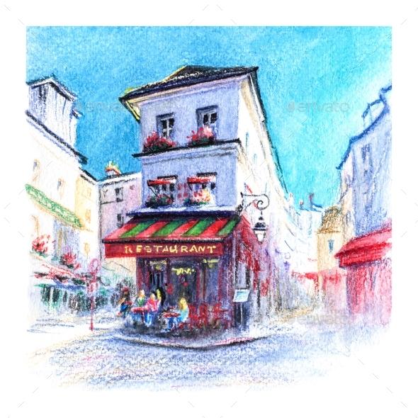 Typical Parisian Restaurant France