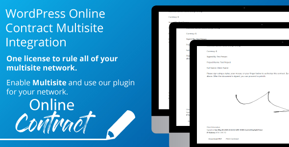 Download WP Online Contract Multisite Integration Free Nulled