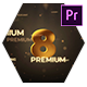 Gold Countdown Intro - Premiere Pro - VideoHive Item for Sale