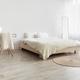 Real photo, simple boho eco bedroom interior, design blog, ad - PhotoDune Item for Sale
