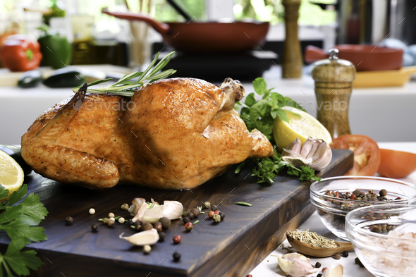 Grilled chicken - Stock Photo - Images