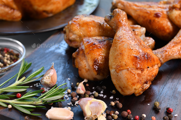 Grilled chicken legs - Stock Photo - Images