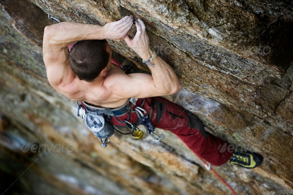 Male Rock Climber - Stock Photo - Images