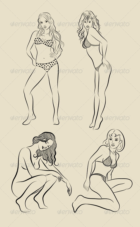 Sexy Girls Sketch - People Characters