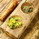 Hypericum in herbal medicine,wooden table - PhotoDune Item for Sale
