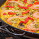 Traditional spanish paella cooked in a pan - PhotoDune Item for Sale