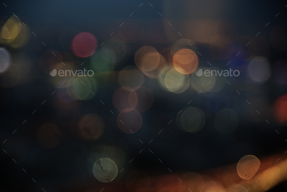 Bokeh Blurred Lights Bright Festival - Stock Photo - Images