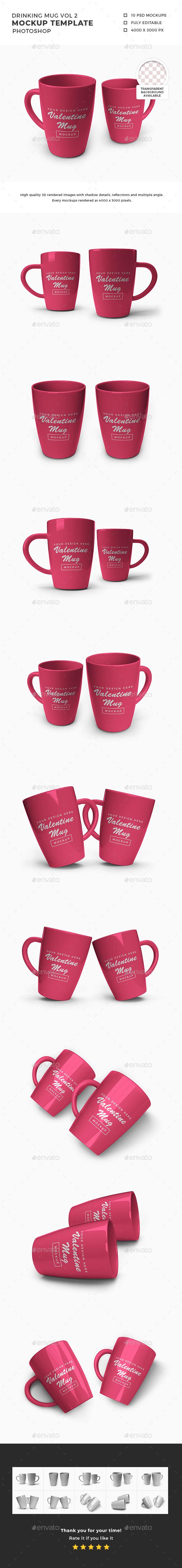 Drinking Mug Mockup Template Vol 2