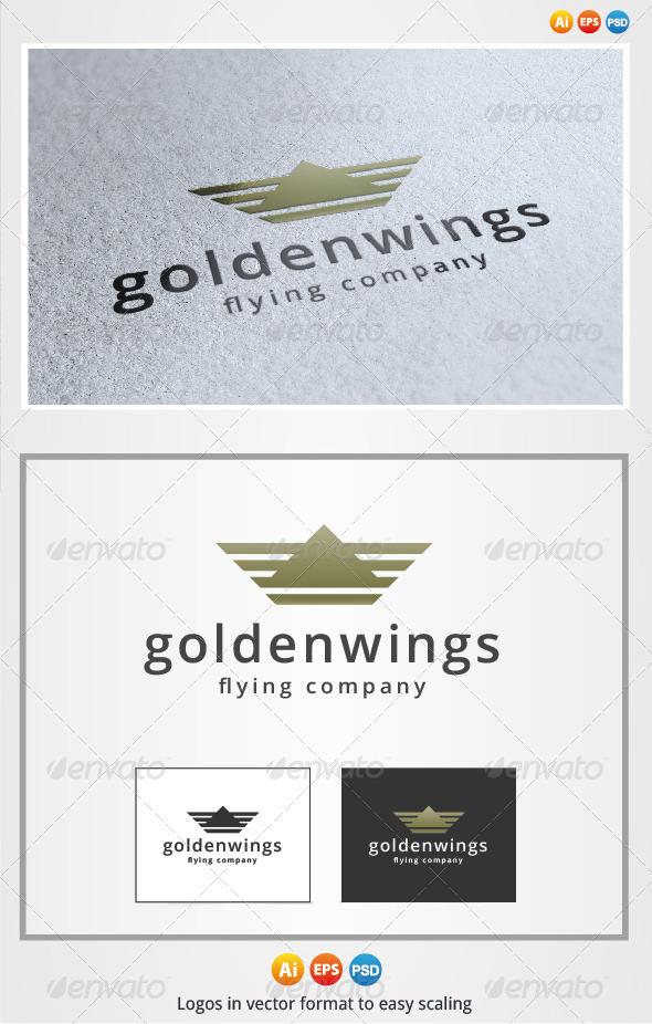 Golden Wings Logo - Symbols Logo Templates