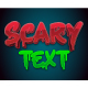 3D Horror Style Text Effects