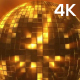 4k Golden Disco Ball Loop - VideoHive Item for Sale