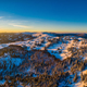 Picturesque winter panorama of mountain hills - PhotoDune Item for Sale