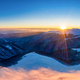 Picturesque winter panorama of snowy mountain hills - PhotoDune Item for Sale