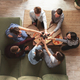 Pizza party, group of friends chatting, eating pizza, drinking sweet soda water - PhotoDune Item for Sale