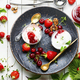 Tasty ice cream with berries and jam - PhotoDune Item for Sale
