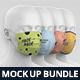 Face Mask Mockup Heads Bundle