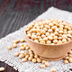 Soybeans in wooden bowl on board - PhotoDune Item for Sale