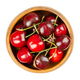 Fresh cherries, in a wooden bowl, red and ripe fruits, ready to eat - PhotoDune Item for Sale