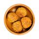 Fried vegan falafel balls, chickpea fritters in wooden bowl - PhotoDune Item for Sale