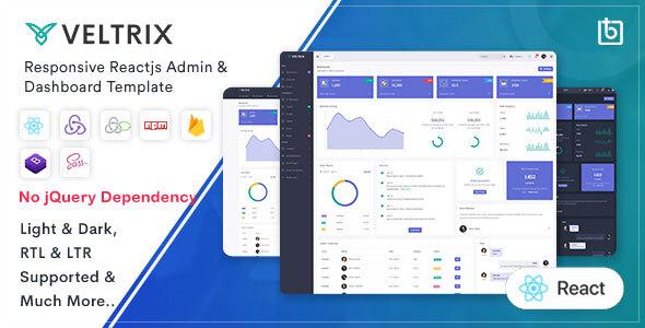 Wondrous Veltrix - React Js Admin & Dashboard Template