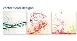 Vector floral backgrounds