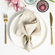 Elegant table setting with floral decor, flat lay - PhotoDune Item for Sale