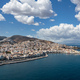 Syros island, Hermoupolis cityscape panorama aerial drone view. Greece,  Cyclades. - PhotoDune Item for Sale
