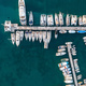 Paros island, Parikia marina port aerial drone view. Greece,  Cyclades. - PhotoDune Item for Sale