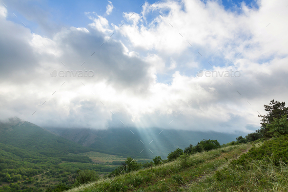 Mountains meadow - Stock Photo - Images
