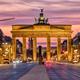 The famous Brandenburg Gate before sunrise - PhotoDune Item for Sale