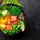 Poke bowl with salmon, cucumber and mango - PhotoDune Item for Sale