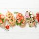 Appetizers plate with traditional spanish tapas set. Italian antipasti brushetta snacks - PhotoDune Item for Sale