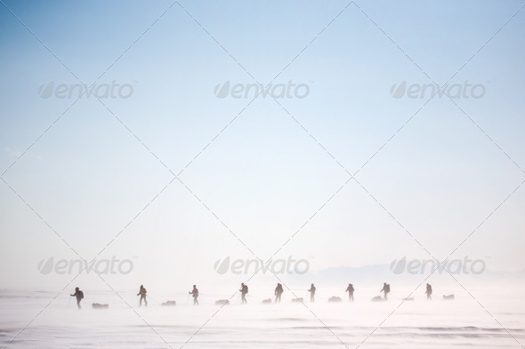 Winter Wilderness Adventure - Stock Photo - Images