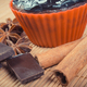 Fresh chocolate muffins and ingredients. Delicious dessert - PhotoDune Item for Sale