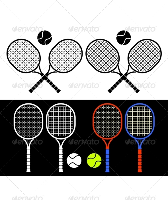 Tennis rackets. - Sports/Activity Conceptual