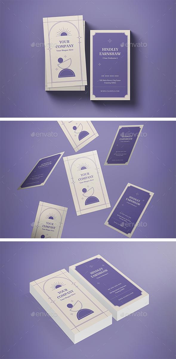 Portrait Purple Business Card