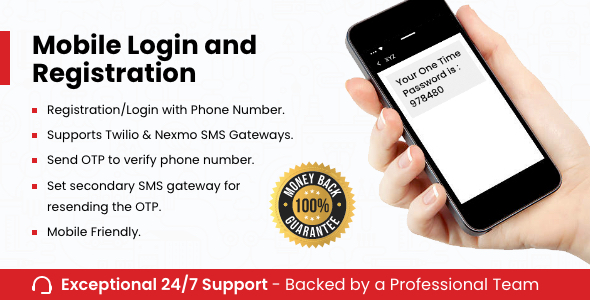 Download Mobile Login and Registration Free Nulled