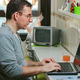 Man working from home with laptop - PhotoDune Item for Sale
