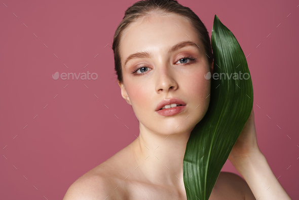 Beauty portrait of an attractive young woman posing - Stock Photo - Images