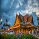 Thai Temple Timelapse At Sunset Bangkok Thailand - VideoHive Item for Sale