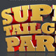 Super Tailgate Party Isolated 3D Text Objects - GraphicRiver Item for Sale