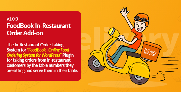 Download FoodBook In-Restaurant Orders Add-on Free Nulled