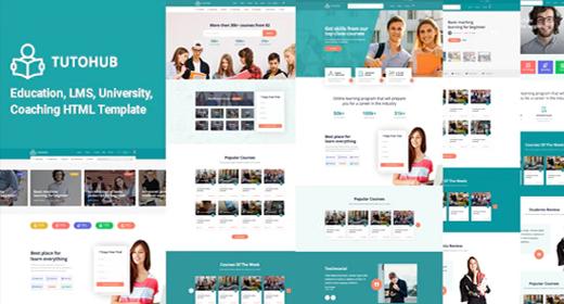 Tutohub - LMS Education HTML Template